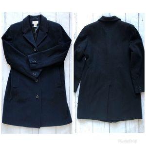 LL Bean Wool Cashmere Black Coat womens overcoat